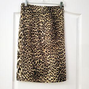 Tahari Lined Cheetah Print Pencil Skirt  14